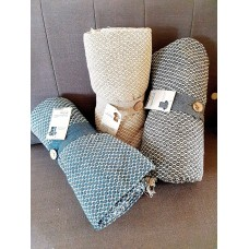 Eco-Friendly RECYCLED Cotton Picnic Blanket / Throw