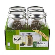 Ball Mason Signature Preserving Jars 945ml - 4 Pack  - Wide Mouth